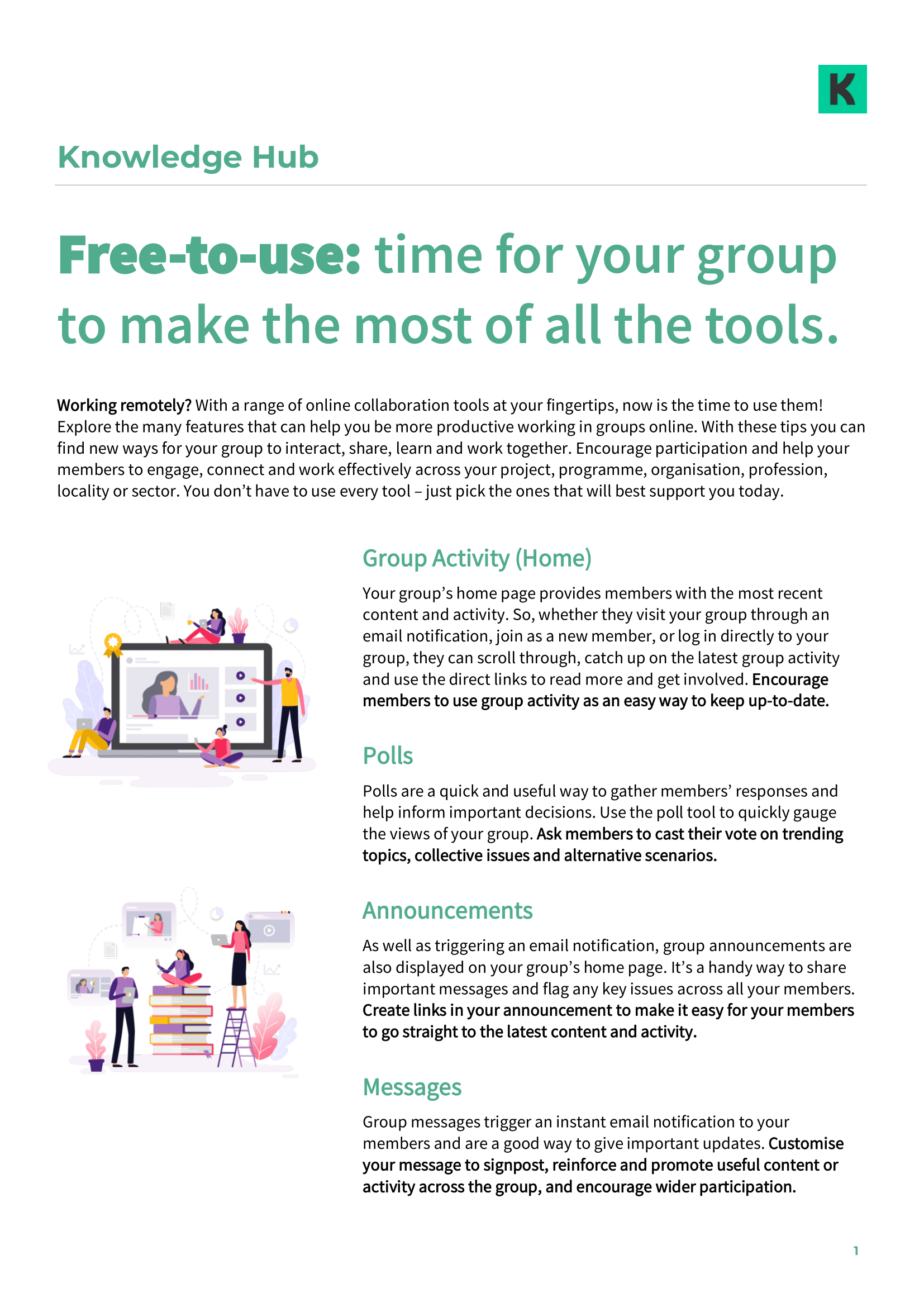 KHub Free online collaboration tools part 1