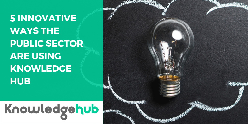 5 innovative ways the Public Sector are using Knowledge Hub