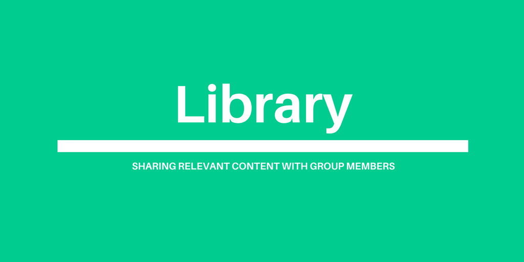 Knowledge Hub group library: sharing relevant content with group members