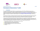Development Demonstrator Toolkit