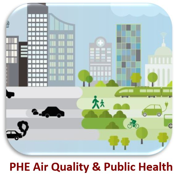 PHE Air Quality and Public Health Logo